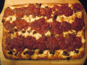 Detroit Pizza on the Peel