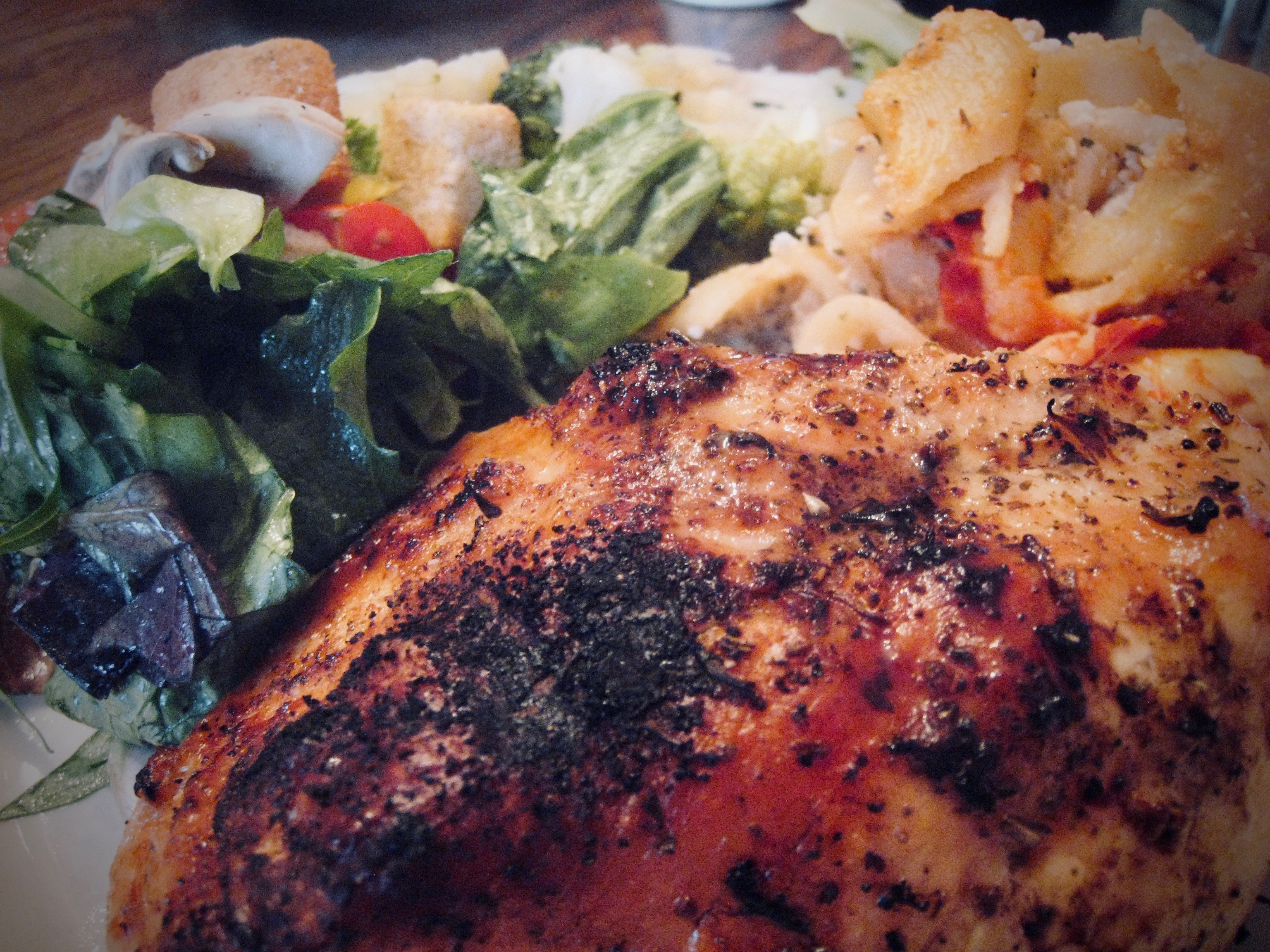 Grilled Chicken with Pasta Bake
