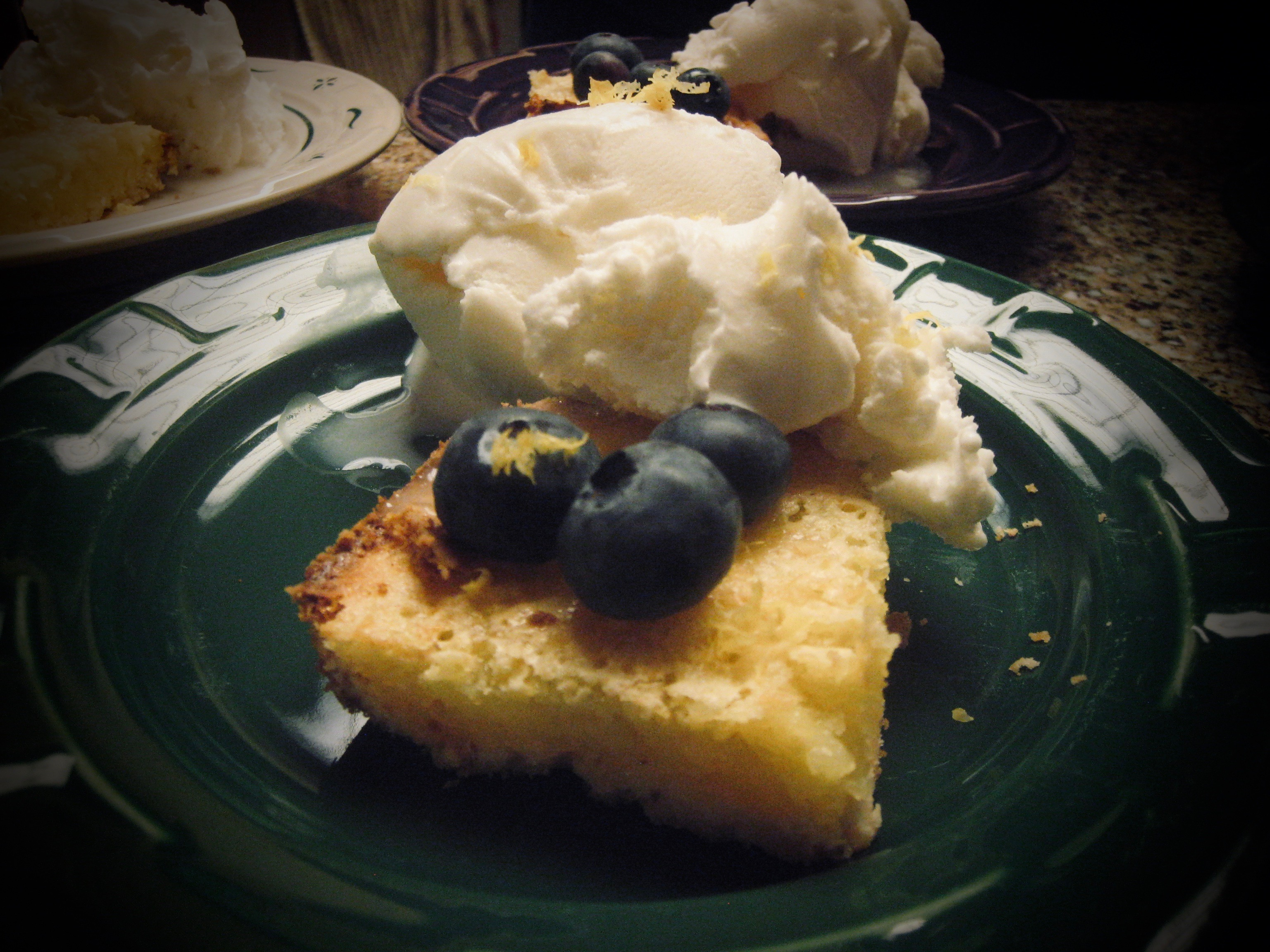 Lemon Bars with Blueberries