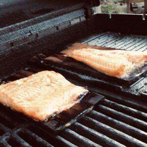 Cedar Plank Salmon on Grill