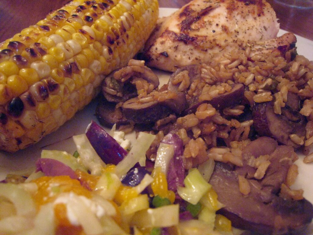 plated-sunday-dinner-farsi-chicken-corn-rice