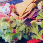 salad-ceviche-guac-plated