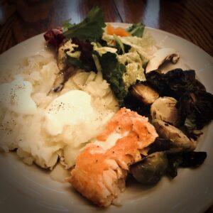 Salmon Dinner Plated
