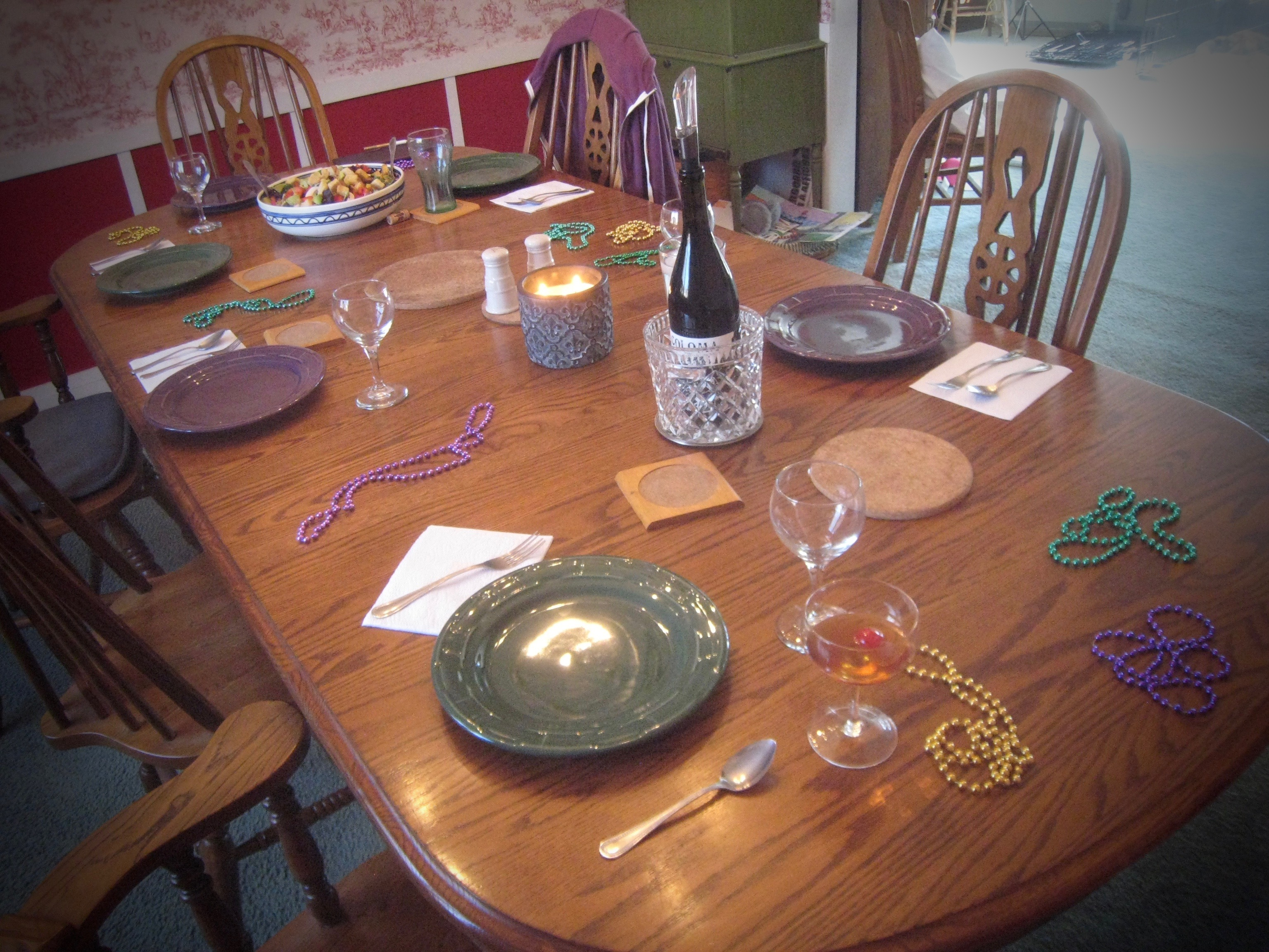 Table Set for Mardi Gras